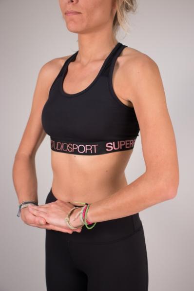 Brassière Superdry Sport Studio Black