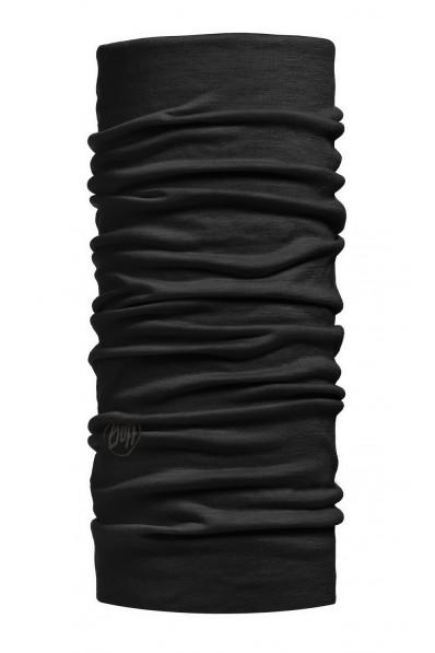 Tour de cou Buff Laine Mérinos Solid Black