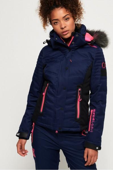 Veste de ski Superdry Luxe Snow Puffer Navy
