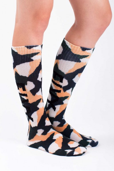 Chaussettes Eivy Under Knee Furry Camo