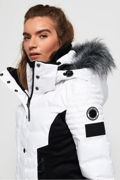 Luxury Puffer Chaqueta de Optic esquí Superdry Snow LzMqUVpGS