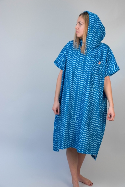 Poncho After Essentials Waves - Marine