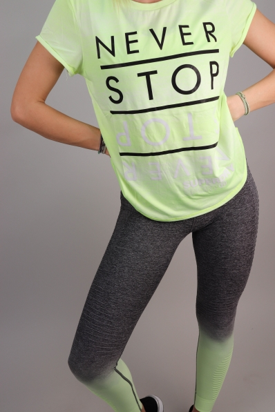 T-shirt Superdry Sport Fitspiration Ombre Lemonade