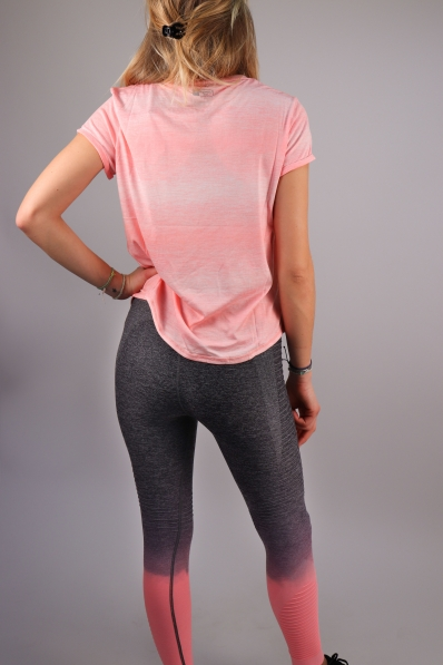 T-shirt Superdry Sport Fitspiration Ombre Candy Coral