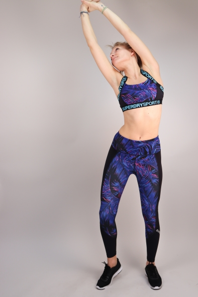 Legging Superdry Sport Printed 7/8 Tropical Vibe