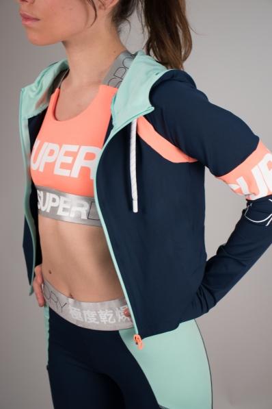 Sweat à capuche Superdry Sport Spin Sprint